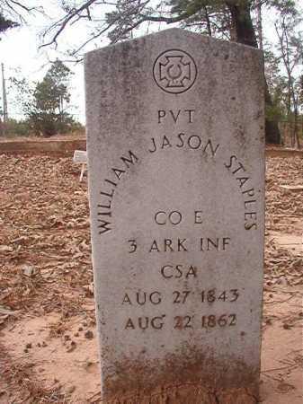 STAPLES (VETERAN CSA), WILLIAM JASON - Union County, Arkansas   WILLIAM JASON STAPLES (VETERAN CSA) - Arkansas Gravestone Photos