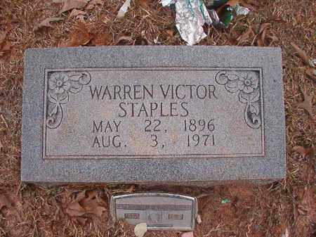 STAPLES, WARREN VICTOR - Union County, Arkansas   WARREN VICTOR STAPLES - Arkansas Gravestone Photos