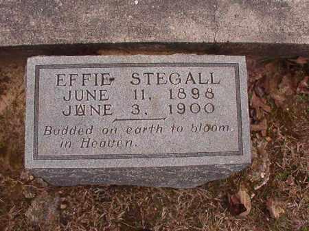 STEGALL, EFFIE - Union County, Arkansas | EFFIE STEGALL - Arkansas Gravestone Photos