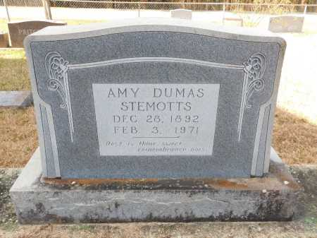 DUMAS STEMOTTS, AMY - Union County, Arkansas | AMY DUMAS STEMOTTS - Arkansas Gravestone Photos