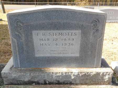 STEMOTTS, L K - Union County, Arkansas   L K STEMOTTS - Arkansas Gravestone Photos