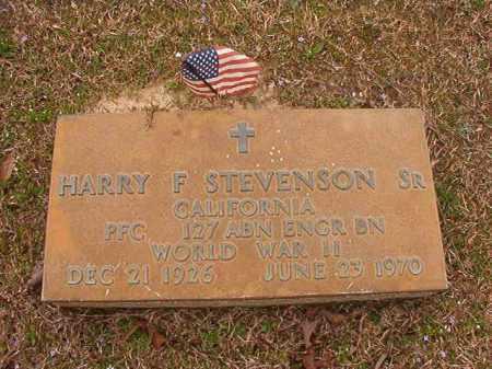 STEVENSON, SR (VETERAN WWII), HARRY F - Union County, Arkansas | HARRY F STEVENSON, SR (VETERAN WWII) - Arkansas Gravestone Photos