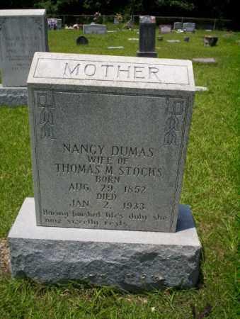 DUMAS STOCKS, NANCY - Union County, Arkansas | NANCY DUMAS STOCKS - Arkansas Gravestone Photos