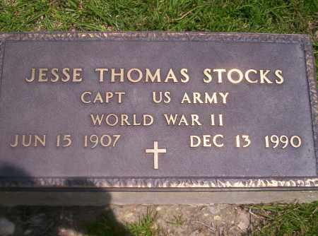 STOCKS (VETERAN WWII), JESSE THOMAS - Union County, Arkansas | JESSE THOMAS STOCKS (VETERAN WWII) - Arkansas Gravestone Photos