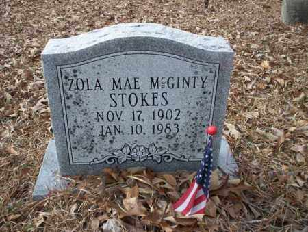 MCGINTY STOKES, ZOLA MAE - Union County, Arkansas | ZOLA MAE MCGINTY STOKES - Arkansas Gravestone Photos
