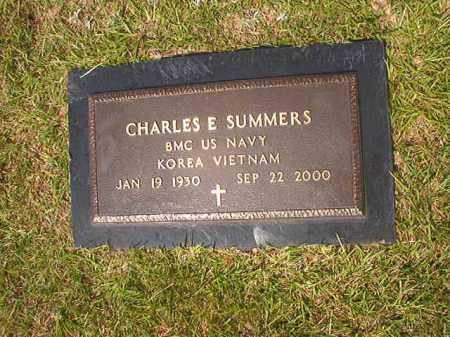 SUMMERS (VETERAN 2 WARS), CHARLES E - Union County, Arkansas | CHARLES E SUMMERS (VETERAN 2 WARS) - Arkansas Gravestone Photos