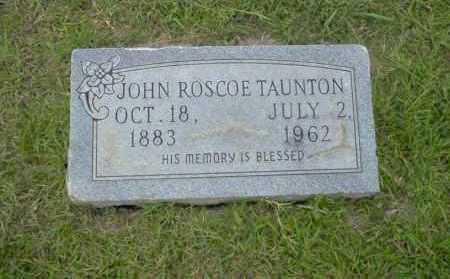 TAUNTON, JOHN ROSCOE - Union County, Arkansas   JOHN ROSCOE TAUNTON - Arkansas Gravestone Photos