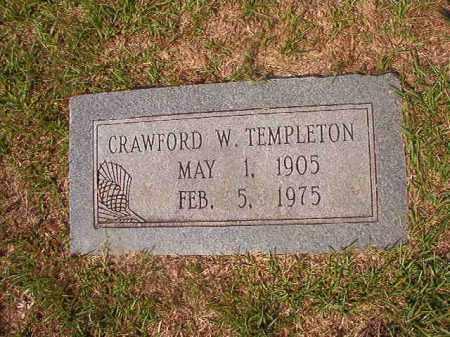 TEMPLETON, CRAWFORD W - Union County, Arkansas   CRAWFORD W TEMPLETON - Arkansas Gravestone Photos
