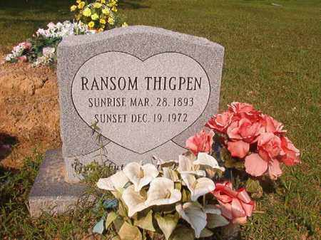 THIGPEN, RANSOM - Union County, Arkansas | RANSOM THIGPEN - Arkansas Gravestone Photos