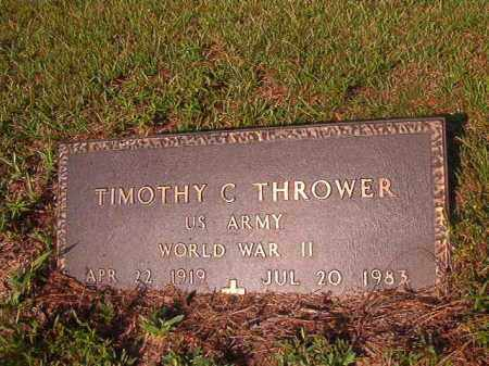 THROWER (VETERAN WWII), TIMOTHY C - Union County, Arkansas | TIMOTHY C THROWER (VETERAN WWII) - Arkansas Gravestone Photos