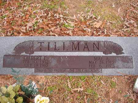 TILLMAN, GILBERT E - Union County, Arkansas | GILBERT E TILLMAN - Arkansas Gravestone Photos