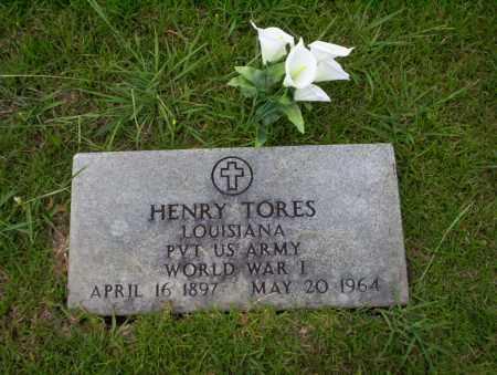 TORES (VETERAN WWI), HENRY - Union County, Arkansas | HENRY TORES (VETERAN WWI) - Arkansas Gravestone Photos
