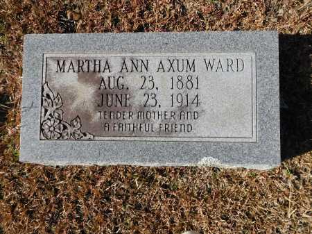 WARD, MARTHA ANN - Union County, Arkansas | MARTHA ANN WARD - Arkansas Gravestone Photos