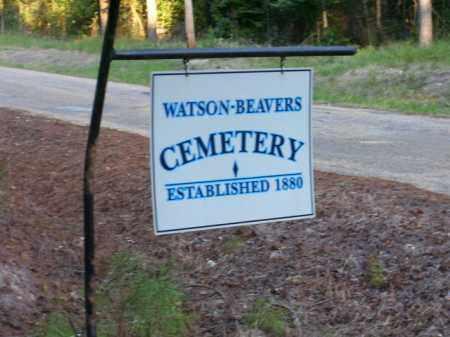 *WATSON-BEAVERS CEMETERY SIGN,  - Union County, Arkansas    *WATSON-BEAVERS CEMETERY SIGN - Arkansas Gravestone Photos