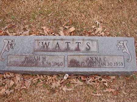 WATTS, ANNA C - Union County, Arkansas | ANNA C WATTS - Arkansas Gravestone Photos