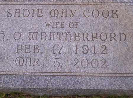 COOK WEATHERFORD, SADIE MAY - Union County, Arkansas | SADIE MAY COOK WEATHERFORD - Arkansas Gravestone Photos