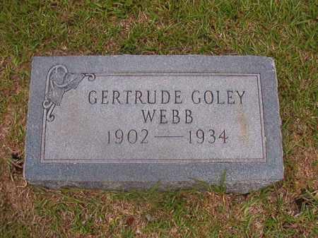 GOLEY WEBB, GERTRUDE - Union County, Arkansas   GERTRUDE GOLEY WEBB - Arkansas Gravestone Photos