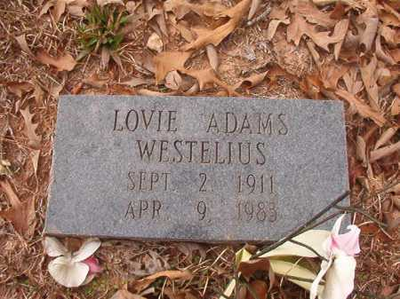 ADAMS WESTELIUS, LOVIE - Union County, Arkansas | LOVIE ADAMS WESTELIUS - Arkansas Gravestone Photos