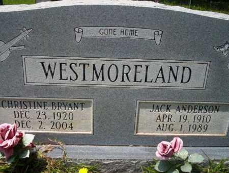 WESTMORELAND, CHRISTINE - Union County, Arkansas | CHRISTINE WESTMORELAND - Arkansas Gravestone Photos