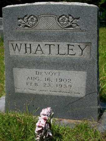 WHATLEY, DE VOYT - Union County, Arkansas | DE VOYT WHATLEY - Arkansas Gravestone Photos