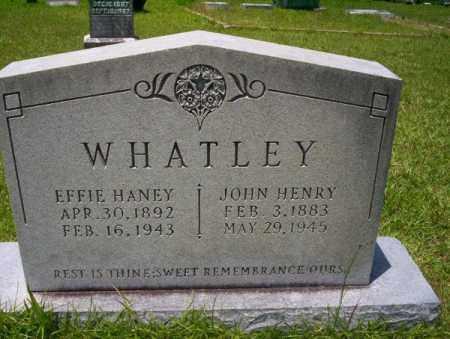 HANEY WHATLEY, EFFIE - Union County, Arkansas | EFFIE HANEY WHATLEY - Arkansas Gravestone Photos