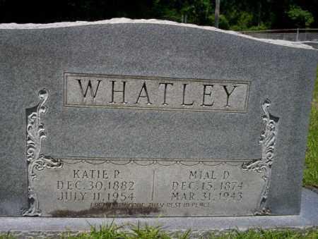 WHATLEY, MIAL D - Union County, Arkansas | MIAL D WHATLEY - Arkansas Gravestone Photos
