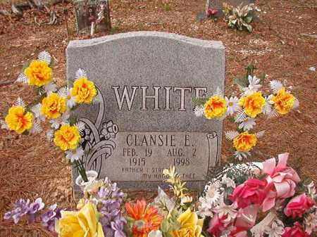 WHITE, CLANSIE E - Union County, Arkansas | CLANSIE E WHITE - Arkansas Gravestone Photos