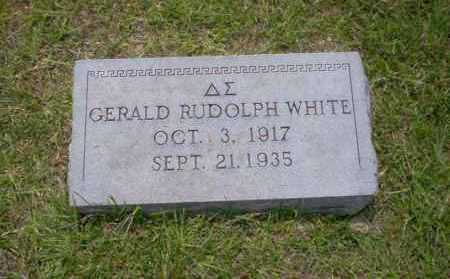 WHITE, GERALD RUDOLPH - Union County, Arkansas   GERALD RUDOLPH WHITE - Arkansas Gravestone Photos