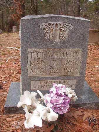 WHITE, JR, TICE - Union County, Arkansas | TICE WHITE, JR - Arkansas Gravestone Photos