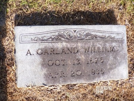 WILLIAMS, AUGUSTUS GARLAND - Union County, Arkansas | AUGUSTUS GARLAND WILLIAMS - Arkansas Gravestone Photos