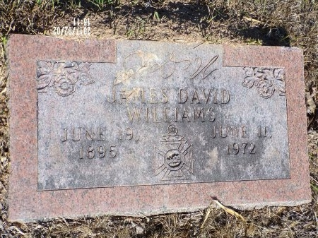 WILLIAMS, JAMES DAVID - Union County, Arkansas   JAMES DAVID WILLIAMS - Arkansas Gravestone Photos