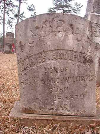 WILLIAMS, JAMES ADOLPHUS - Union County, Arkansas   JAMES ADOLPHUS WILLIAMS - Arkansas Gravestone Photos