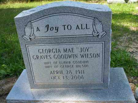 GRAVES-GOODWIN WILSON, GEORGIA MAE - Union County, Arkansas | GEORGIA MAE GRAVES-GOODWIN WILSON - Arkansas Gravestone Photos