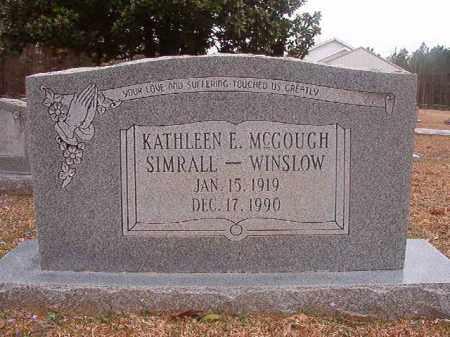 WINSLOW, KATHLEEN E - Union County, Arkansas | KATHLEEN E WINSLOW - Arkansas Gravestone Photos