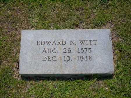 WITT, EDWARD N. - Union County, Arkansas | EDWARD N. WITT - Arkansas Gravestone Photos