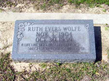 EVERS WOLFE, RUTH - Union County, Arkansas | RUTH EVERS WOLFE - Arkansas Gravestone Photos