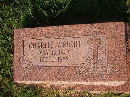 WRIGHT, CHARLIE - Union County, Arkansas | CHARLIE WRIGHT - Arkansas Gravestone Photos