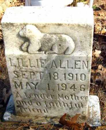 ALLEN, LILLIE - Van Buren County, Arkansas | LILLIE ALLEN - Arkansas Gravestone Photos