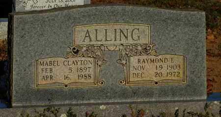 CLAYTON ALLING, MABEL - Van Buren County, Arkansas | MABEL CLAYTON ALLING - Arkansas Gravestone Photos
