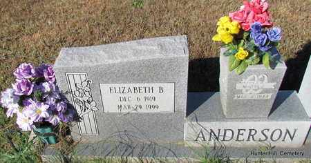 ANDERSON, ELIZABETH B (CLOSE UP) - Van Buren County, Arkansas | ELIZABETH B (CLOSE UP) ANDERSON - Arkansas Gravestone Photos
