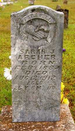 ARCHER, SARAH J - Van Buren County, Arkansas | SARAH J ARCHER - Arkansas Gravestone Photos