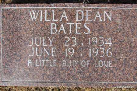 BATES, WILLA DEAN - Van Buren County, Arkansas | WILLA DEAN BATES - Arkansas Gravestone Photos