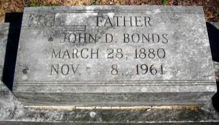 BONDS, JOHN D. - Van Buren County, Arkansas | JOHN D. BONDS - Arkansas Gravestone Photos