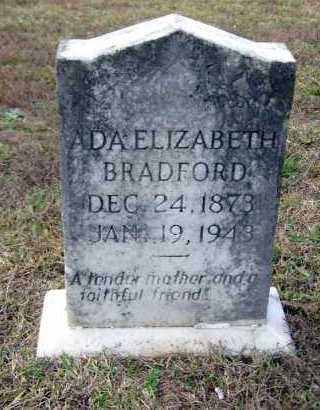 BRADFORD, ADA ELIZABETH - Van Buren County, Arkansas   ADA ELIZABETH BRADFORD - Arkansas Gravestone Photos