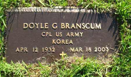 BRANSCUM  (VETERAN KOR), DOYLE G - Van Buren County, Arkansas | DOYLE G BRANSCUM  (VETERAN KOR) - Arkansas Gravestone Photos
