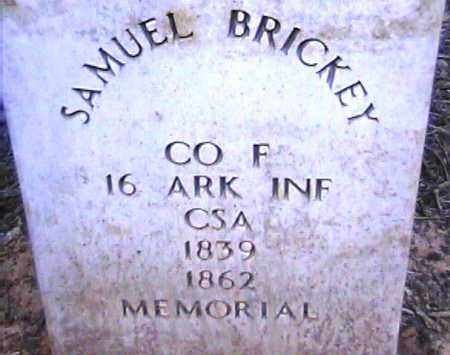 BRICKEY  (VETERAN CSA), SAMUEL - Van Buren County, Arkansas | SAMUEL BRICKEY  (VETERAN CSA) - Arkansas Gravestone Photos