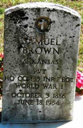BROWN  (VETERAN WWI), SAMUEL - Van Buren County, Arkansas   SAMUEL BROWN  (VETERAN WWI) - Arkansas Gravestone Photos