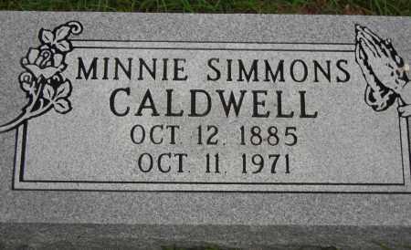 SIMMONS CALDWELL, MINNIE - Van Buren County, Arkansas | MINNIE SIMMONS CALDWELL - Arkansas Gravestone Photos