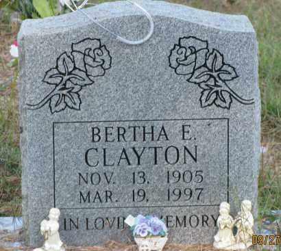 CLAYTON, BERTHA E - Van Buren County, Arkansas   BERTHA E CLAYTON - Arkansas Gravestone Photos
