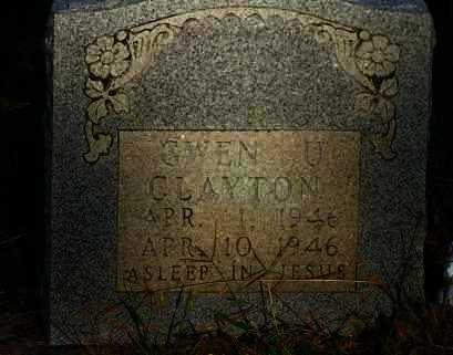 CLAYTON, GWEN U - Van Buren County, Arkansas | GWEN U CLAYTON - Arkansas Gravestone Photos